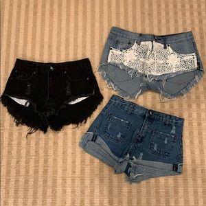 One Teaspoon Jean Shorts (bundle)